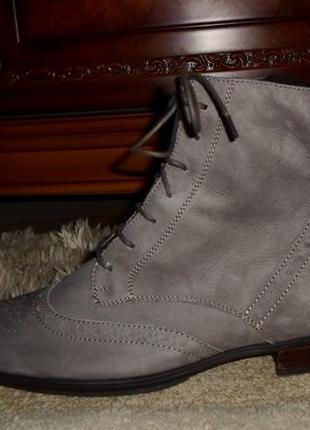 Элитные мягенькие утепленые бренд.ботинки-оксфорды semler,кожа,германия1 фото