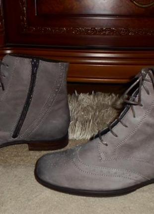 Элитные мягенькие утепленые бренд.ботинки-оксфорды semler,кожа,германия2 фото