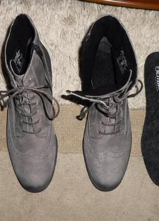 Элитные мягенькие утепленые бренд.ботинки-оксфорды semler,кожа,германия3 фото
