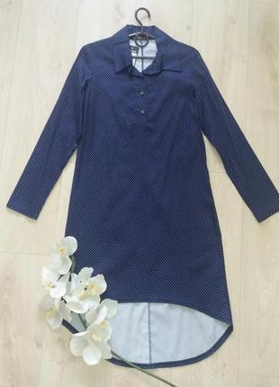 Платье рубашка в горох