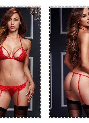 5-30 комплект белья с пажами для чулок эротическое белье сексуальное белье