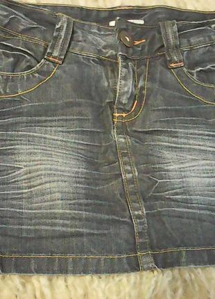 Короткая новая темно-синяя юбочка