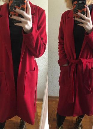 Sale!!! ❤️ весеннее шерстяное пальто- халат minimum, 36