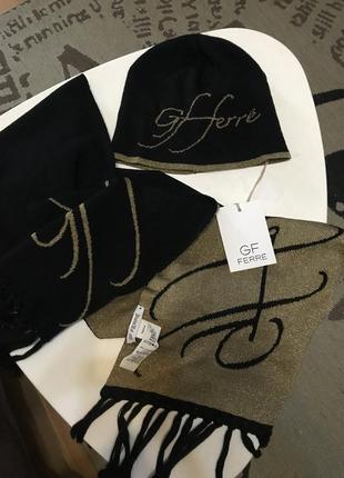 Классный набор шапка+ шарф, италия