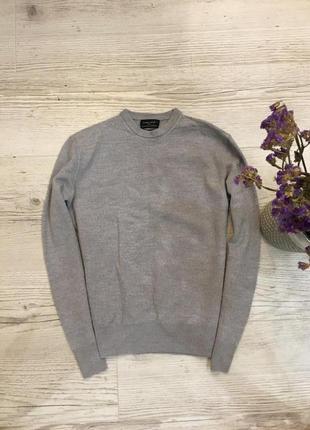 Шерстяной свитер кофта стильная