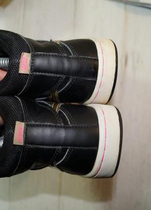 (37/23,5см) nike кожа. оригинал. комфортные кроссовки, высокие кеды, хайтопы2 фото