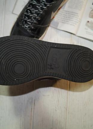 (37/23,5см) nike кожа. оригинал. комфортные кроссовки, высокие кеды, хайтопы3