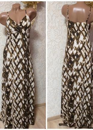 Легкий летний сарафан / платье в пол uk 10 наш 44