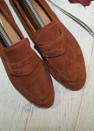 ?37/24см) h&m замша стильные туфли, мокасины, лоферы3