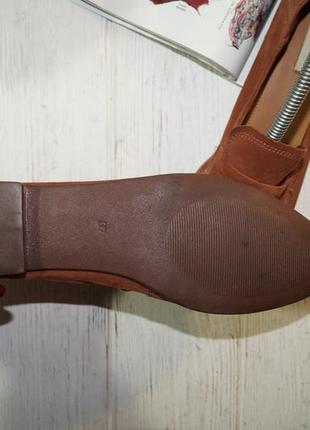 ?37/24см) h&m замша стильные туфли, мокасины, лоферы4