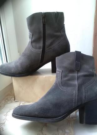 Модные кожаные полусапожки marco  tozzi