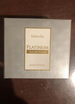 Парфюмерная вода для женщин platinum от faberlic