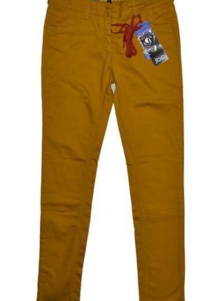 Модные джинсы гарчичного цвета denim and co jbc skinny fit