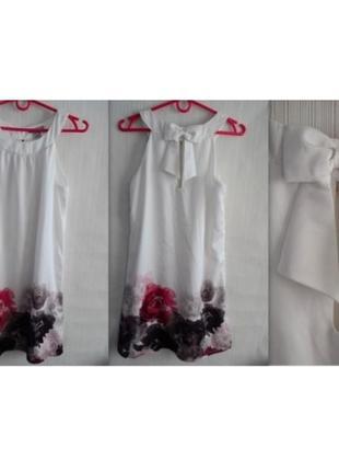 Летнее платье h&m в цветах в розах xs, s