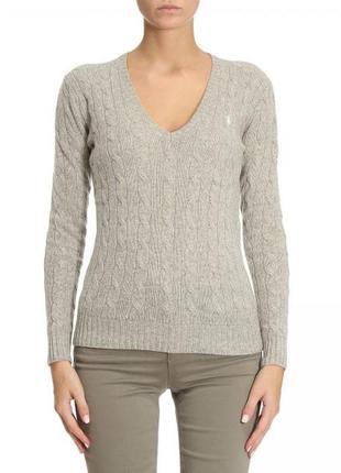 Ralph lauren шерстяной свитер в косы оригинал/100% lambs wool (шерсть ягнят)
