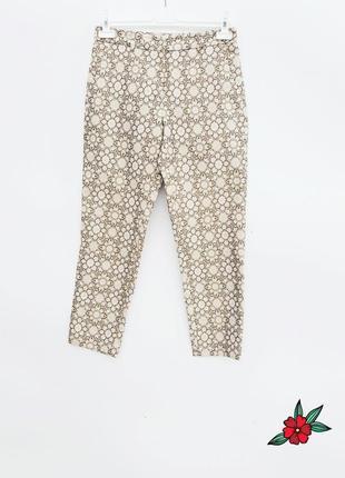 Повседневные штаны брюки укороченые штаны с шелком
