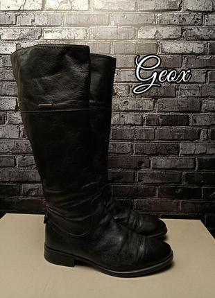Кожаные сапоги geox gore-tex
