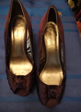 Фиолетовые туфли.