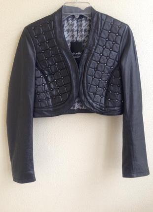 Кожаная женская куртка болеро kor@kor италия