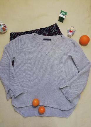Мягкий серый свитер с шерстью альпаки