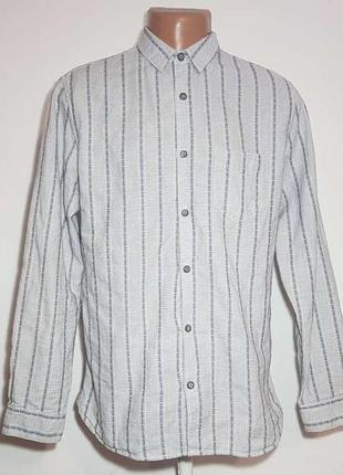 Рубашка john rocha, 100% хлопок, m, как новая!