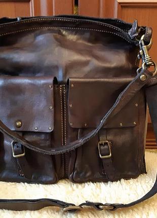 Дизайнерская мужская  сумка планшет  campomaggi  италия