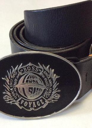 Мужской крутой кожаный ремень boss hugo boss оригинал ручная работа