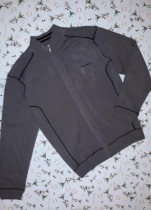Стильная теплая кофта толстовка pierre cardin, размер 54-56, дорогой бренд, большой размер
