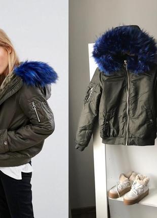 Куртка зима бомбер pumkie 36 s