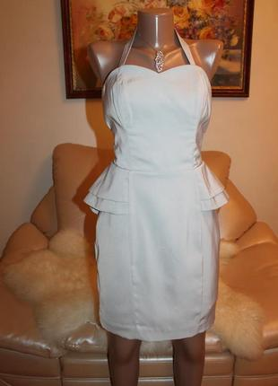 H&m шикарное серое платье размер xs s m