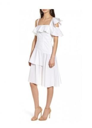Белое хлопковое платье kendall+kylie