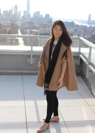 Пончо/кейп/короткое пальто/накидка/куртка коричневый sodamix