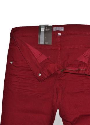Плотные бордовые джинсы slim fit от jbc