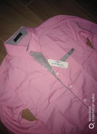 Рубашка розовая  xipeng новая!сток!