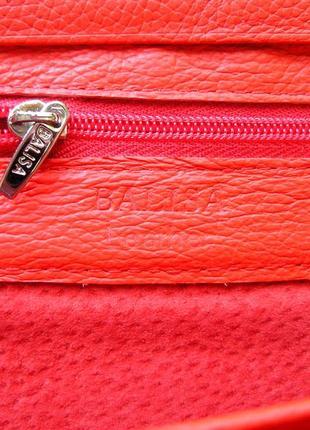 Большой кожаный кошелек красная роза, 100% натуральная кожа, есть доставка бесплатно5