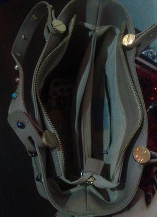 Кожаная сумка с длинным цветным ремнем   cenuine leather4