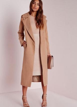 Базовое пальто без застежек missguided
