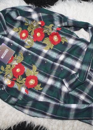 Крутая рубашка с вышивкой missguided2 фото