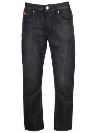 Lee cooper черные мужские джинсы прямого кроя