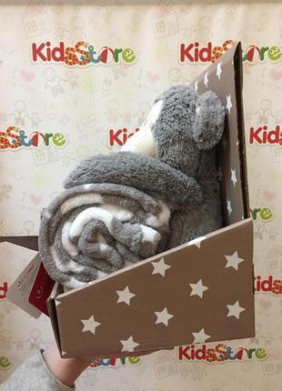 Новый комплект: двухсторонняя одеяло и мягкая игрушка обезьянка, stm-074