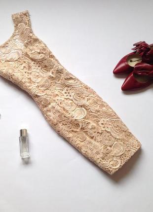 Кружевное платье мини danity с открытой спиной
