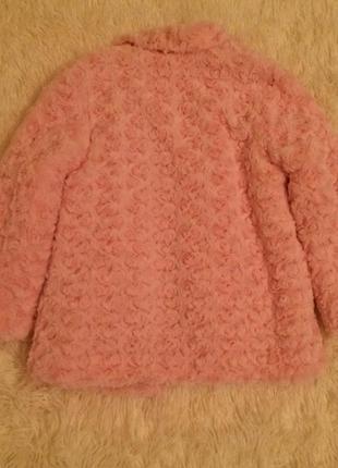 Шуба шубка для девочки розовая 104 см2