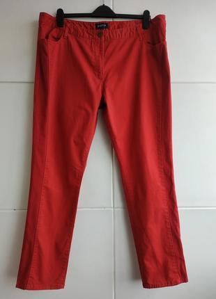 Стильные и ультракомфортные джинсы-скинни papaya красного цвета с лампасами