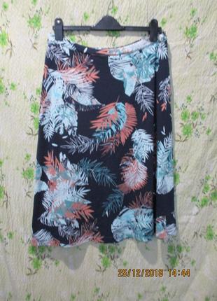 Красивая трикотажная юбка/принт/ 48-50 размер