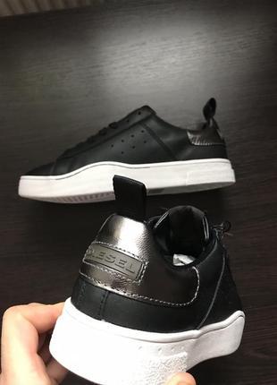 Черные кроссовки diesel s-clever low