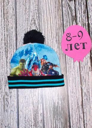 Флисовая шапка marvel для мальчика 8-9 лет, 54 см