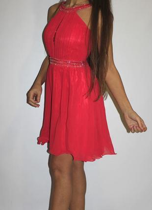 Шифоновое  платье в камнях и бисере ! --- огромный выбор платьев ---