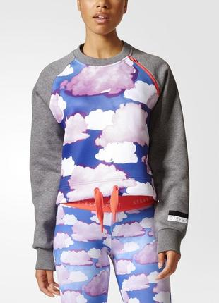 Adidas stellasport свитшот cloud print stella mccartney's