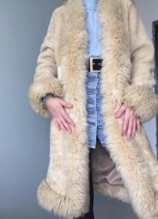 Шуба из натуральной овчины genuine sheepskin