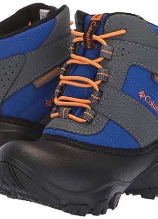 Зимние ботинки columbia 26 размер, kids rope tow iii waterproof snow boot